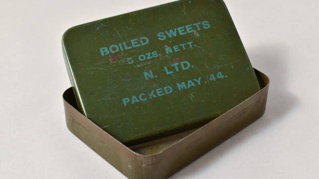 Boiled sweets tin
