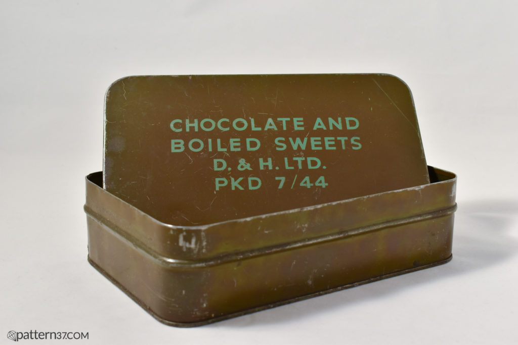 Chocolate and boiled sweets tin
