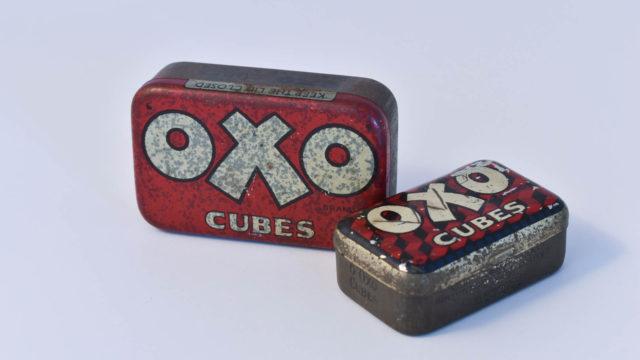 Oxo cubes tins
