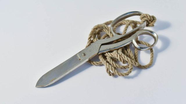 Stretcher bearer's scissors