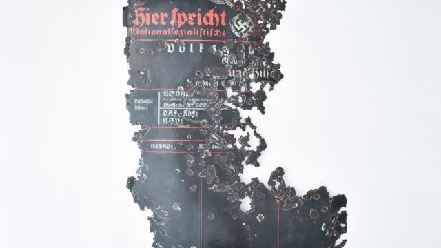 NSDAP metal sign